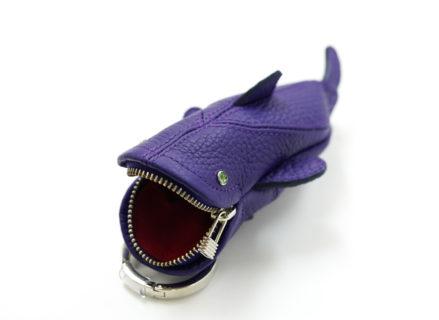 紫キーケース